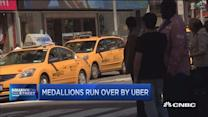 Medallions run over by Uber
