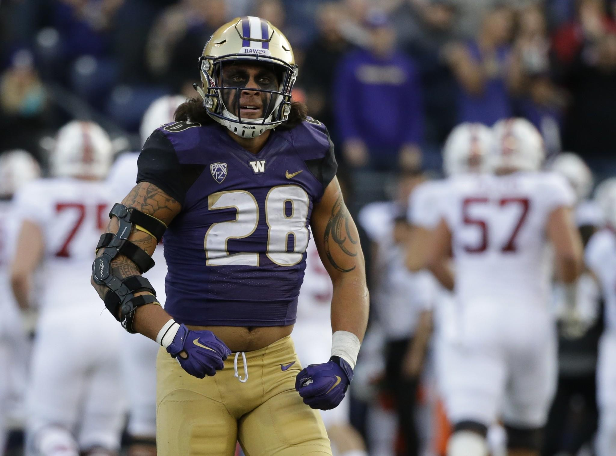 Washington LB Psalm Wooching to pursue rugby instead of NFL career