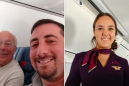Shout out to this dad who flew with his daughter while she worked Christmas