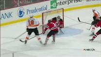 Scott Hartnell scores on Brodeur's five-hole