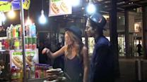 Bella Thorne Enjoys A Late Night Snack