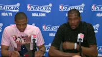 Postgame: Westbrook and Durant