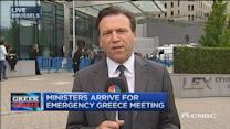Ministers arrive for Greek meeting