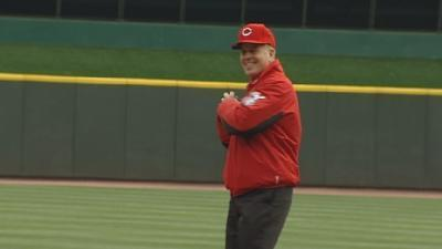 Former Police Chief Throws Out First Pitch