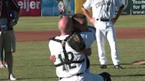 Military Dad Surprises Son at Baseball Game