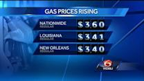 Gas prices rise 10 cents in New Orleans