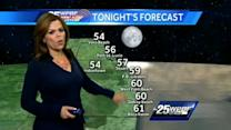 First Alert Forecast: Temperatures reach mid 70s under sunny skies