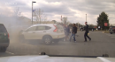 Good Samaritans help flip a man's car following crash